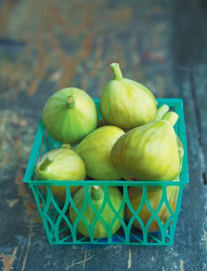 A basket full of a figs