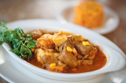 The sancocho from Javiers Bistro