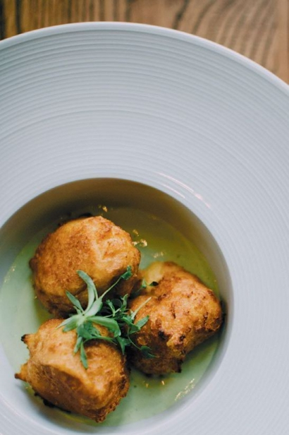 Chickpea fritters at Cerulean Restaurant