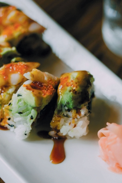 Sunrise roll at Cerulean Restaurant