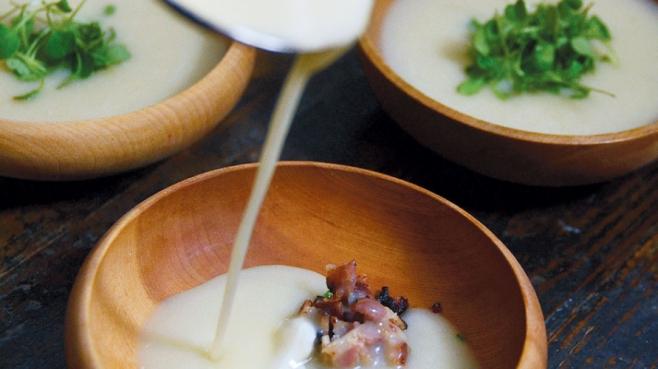 Jerusalem Artichoke and Potato Soup