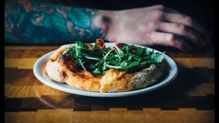 Wood-fired Neapolitan-style pizza