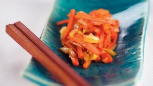 Kinpira: Turnip and Carrot Salad